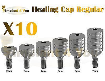 X10 Healing Cap For Dental Implant Abutment Regular Platform Internal Hex Lab