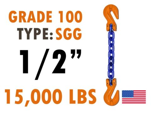 """Chain Sling GRADE 100 Style SGG 1/2"""" x 10"""