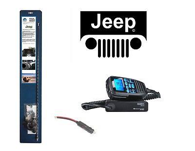 NEW UNIDEN CMX760 CB Radio & 07-UP JEEP Wrangler 3' Antenna Combo Kit w/ Coax