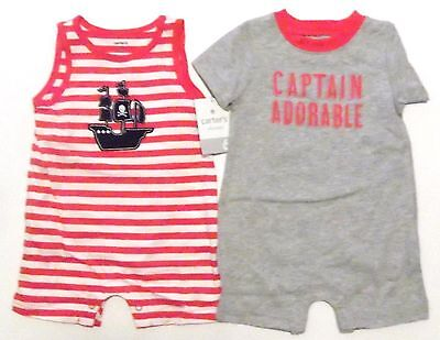 New 2 Carters Baby Boys Bodysuit Rompers Creepers Clothes Size 3 Months NWT