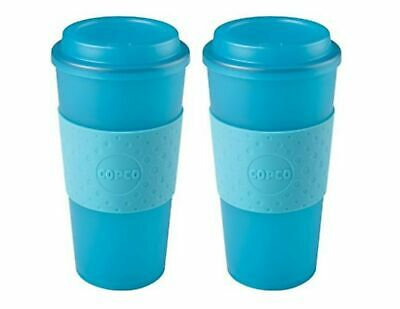 Copco Acadia Insulated Travel Mug BPA Free Plastic Translucent 16 Oz 2 Pack Teal 16 Oz Translucent Travel Mug