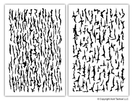 Tree Bark Paint Stencils Mylar Camo Duck Jon Boat Stencils Camouflage 2 Designs