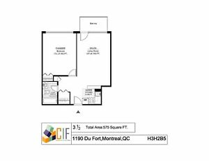3.5 available as of April - DOWNTOWN - GUY CONCORDIA - ATWATER