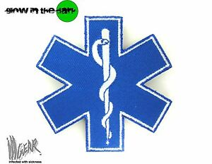 ill-Gear-STAR-OF-LIFE-LARGE-MEDIC-MEDICAL-PARAMEDIC-VELCRO-PATCH-EMT-Tactical