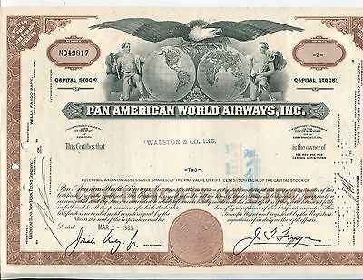 Pan American World Airways, Inc., 1965 2 Different Stocks, 102 Shares Redeemed