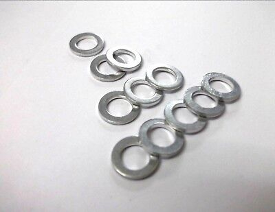 5 x M8 x 12mm x 1mm Aluminium sealing washers. Light weight. Flat. Unanodised