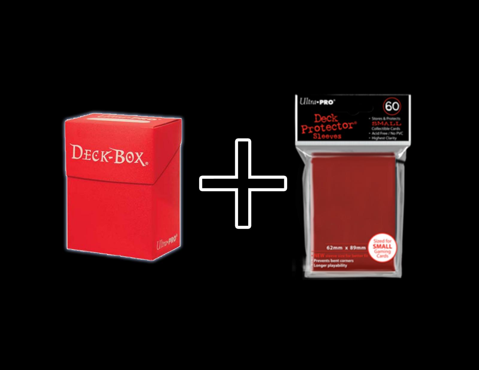 60 Yugioh Card Small Sleeves + Yugioh Deck Box Ultra Pro Bra