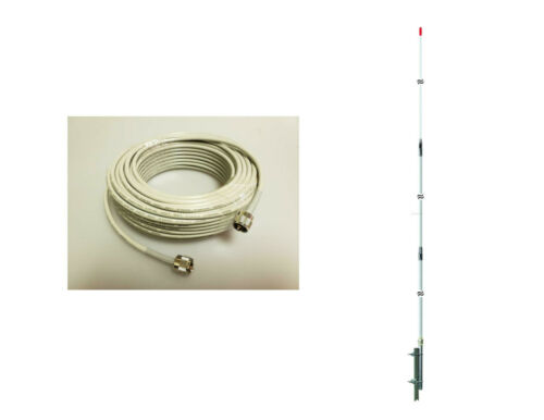 PT99 PROCOMM PROTON CB,HAM BASE ANTENNA,100ft RG8X COAX CABLE DOUBLE SHIELDED
