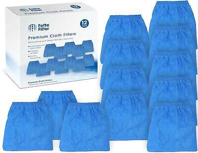Fette Filter - Premium Quality 12 Pack of Cloth Filter Bags VRC5 for Vacmaste... Cloth Filter Bag