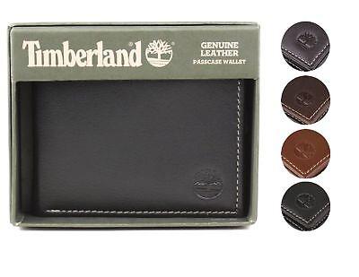Timberland Men's Genuine Leather Passcase Credit Card Id Billfold Wallet (Passcase Billfold Wallet)
