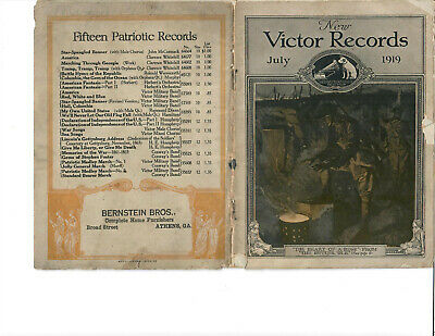 Athens, Ga -New Victor Records Catalog November 1919 Victor Talking Machines  (Athens Department Store)