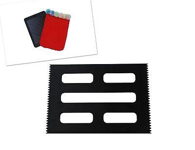 Weaving Loom Board Frame, BLACK A4 Size, 295 x 210mm. Make Tablet Cover. - Weaving Board