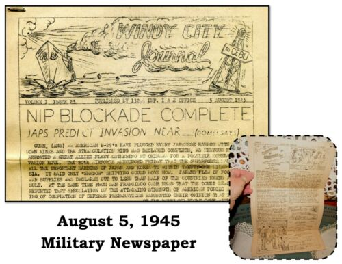 Military Naval Base Newspaper from August 5, 1945, Windy City Journal