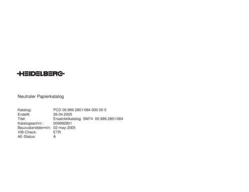 Heidelberg Speed Master 74 Parts Manual (pdf file)(100)