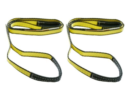 "Two (2x) 1"" x 8 ft Nylon POLYESTER Web Lifting Sling Tow Strap 1 Ply EE1-901"