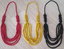 *Wooden beaded necklaces X 3 BRAND NEW* East Maitland Maitland Area Preview