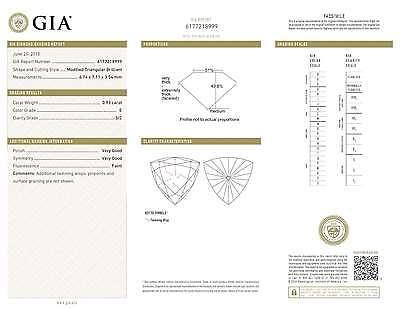 1.85 CT MATCHING PAIR E COLOR TRIANGULAR GIA CERT DIAMONDS EARRINGS TAXFREE Gift 1