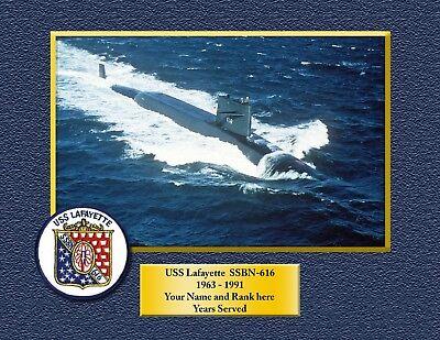 USS LAFAYETTE SSBN616 Custom Personalized Print of US Navy Gift Idea](Customes Ideas)