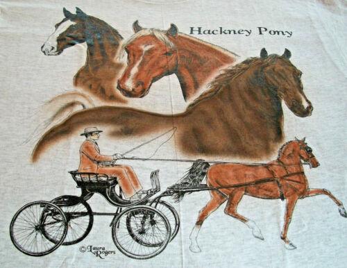 """Hackney Pony T-shirt  """" White """" LG ( 42 ~ 44 )"""