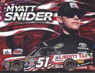 Signed 2017 Myatt Snider  Liberty Tax   51 Kbm Nascar Truck Postcard