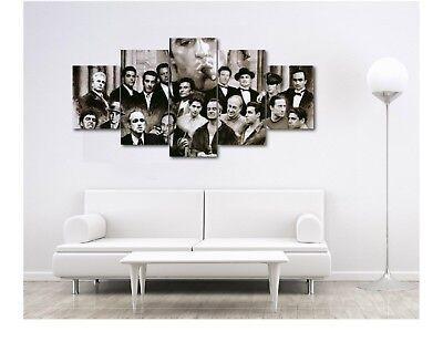 Gangsters Scarface Canvas Print Home Decor Wall Art Five Piece