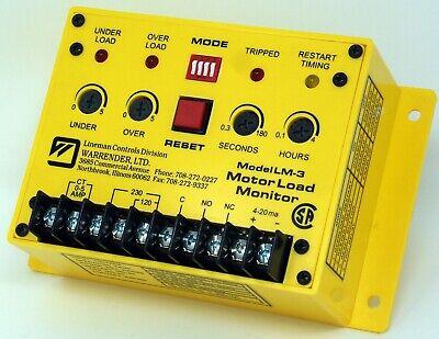 Warrender Motor Load Monitor Lm-3 91a000085-01 115230v 1510a 5060 Hz