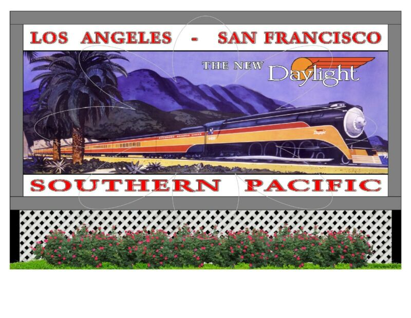 """Large 6""""x 4""""  Flexible Refrigerator Magnet - Southern Pacific Daylight"""