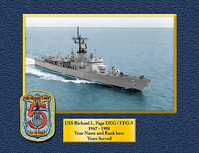 USS RICHARD L PAGE DEG-FFG5 Custom Personalized Print of US Navy Gift Idea - Custome Ideas
