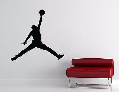 Michael Jordan Wall Decal Basketball Wall Home Decor Jumpman Sticker EXTRA LARGE ()