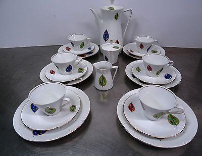 mid century design Kaffeeservice Porzellan Kaffegeschirr 23 tlg. Schirnding 60er