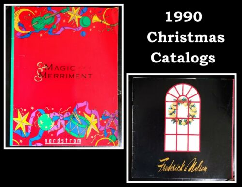 TWO - 1990 Christmas Dept Store Catalogs, Nordstrom and Frederick & Nelson
