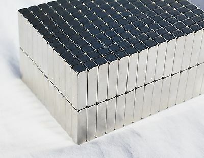2550100250 Pcs 1 X 18 X 18 Rectangle Magnets N52 Neodymium Rare Earth 88