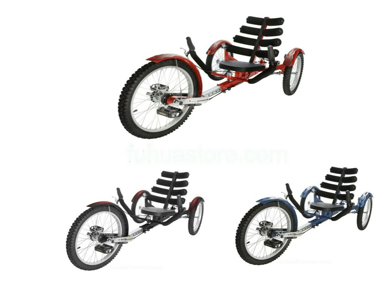 """Mobo Shift 20"""" 3 WHEEL Tricycle RECUMBENT Trike Bike With re"""