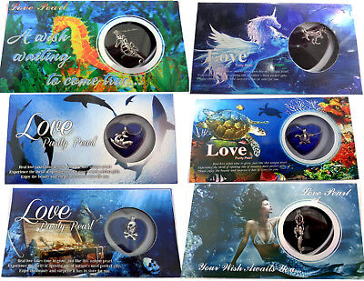 Love Purity Pearl Wish Necklace Gift Box Sea Life Pineapple Mermaid Unicorn