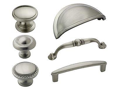 Amerock Satin Nickel Rope Cabinet Hardware Knobs & Pulls  ()