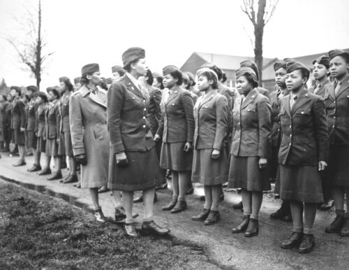 African American Womens Army Corps in World War II-First Contingent-England-1945