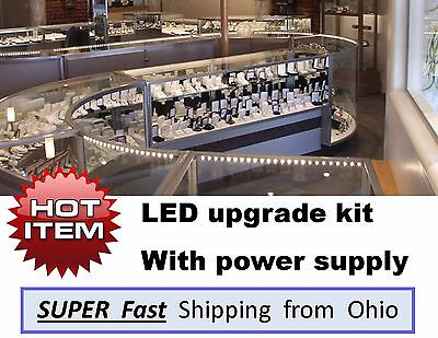 Showcase Display Case Led Upgrade Light Kits - Complete With Transformer