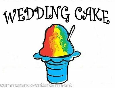 Wedding Cake Syrup Mix Snow Coneshaved Ice Flavor Gallon Concentrate 1