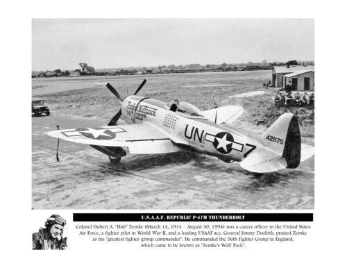 "USAAF Republic P-47 Thunderbolt ((8.5""x11"")) Print"