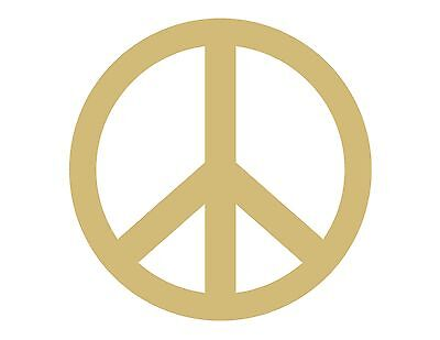 Peace Sign Style 1 Unfinished MDF Wood Cutout Variety Sizes USA Made Home Decor](Peace Sign Cutouts)
