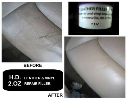 Leather and Vinyl Repair Filler Compound 2 oz*Kit *** Watch VIDEO here! ***