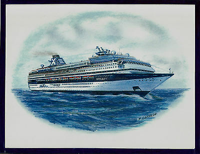 Original Art Work    Ms Galaxy    Celebrity Cruises   Cruise Ship