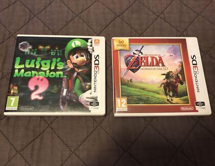 Luigi's Mansion 2 + Zelda Ocarina Of Time 3DS Games!