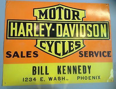 Authentic Harley-Davidson dealer sign 1930s-1950s