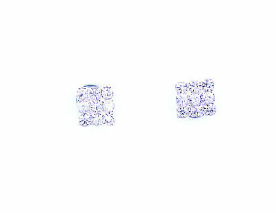 Classic magnetic magnet diamond shape crystal stud earrings