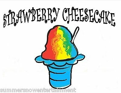 Strawberry Cheesecake Syrup Mix Snow Coneshaved Ice Flavor Gallon Concentrate
