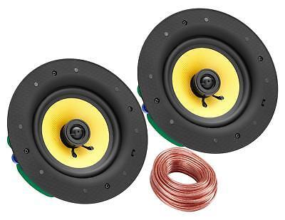 2-Wege Lautsprecher Einbaulautsprecher Deckenlautsprecher Bluetooth 240Watt weiß
