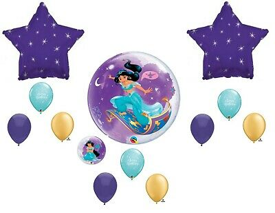 Disney Princess Birthday Balloons (Jasmine Disney Princess Aladdin Birthday Balloons Decoration Supplies)