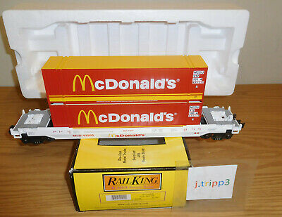 MTH 30-7691 McDONALD'S HUSKY STACK CAR TOY TRAIN O GAUGE INTERMODAL CONTAINERS for sale  Moosic
