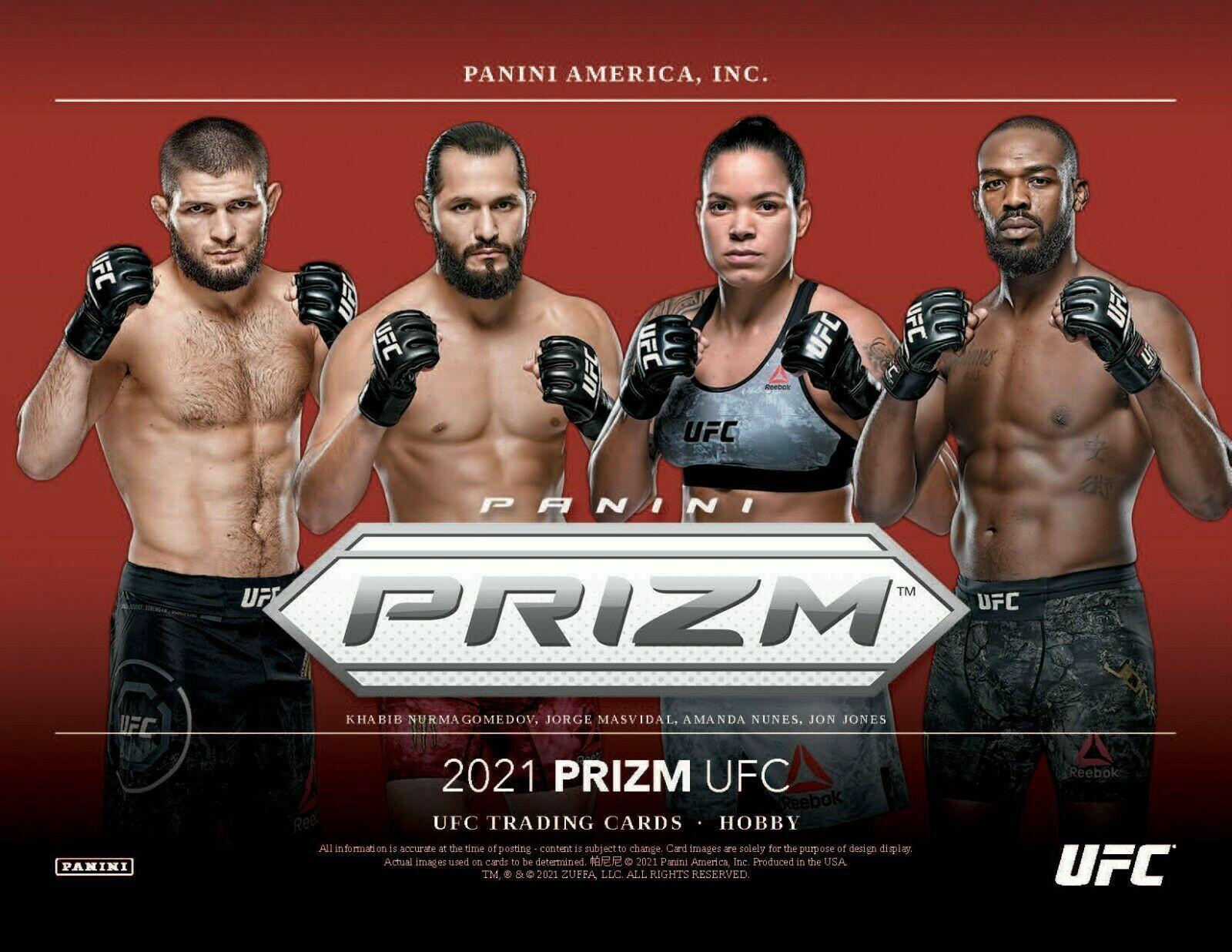 KHABIB NURMAGOMEDOV 2021 PANINI PRIZM UFC 1/3 CASE 4 BOX FIGHTER BREAK 2 - $275.00